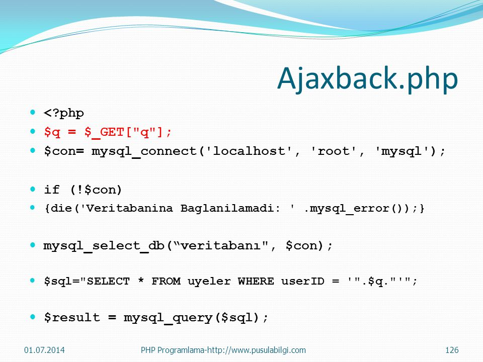 Ajaxback.php < php $q = $_GET[ q ];